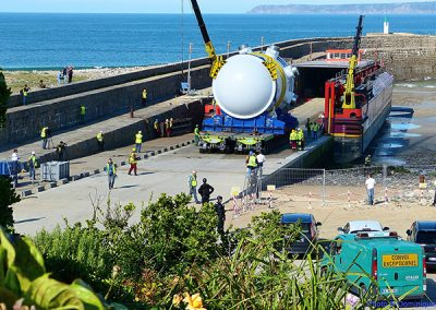 Loading at Cherbourg & Delivery at Dielette for Flamanville Nuclear Power Station