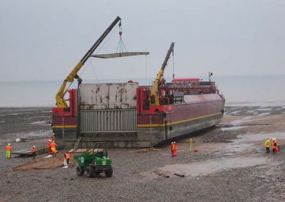 Evaporator D Deliveries onto the Beach at Sellafield